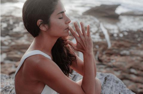 person meditating