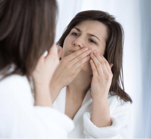 picking pimple